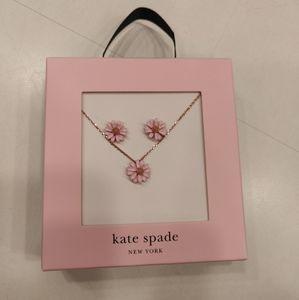 Kate Spade NY Flower Stud Earrings & Necklace